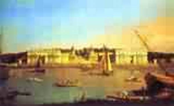 London greenwich hospital from north bank of the thames 1753